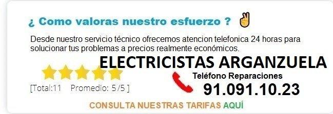 electricistas arganzuela precios